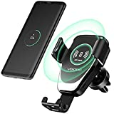 Veidoo Wireless Car Charger, Veidoo 10W Gravity Wireless Fast Charge Car Mount Air Vent Phone Holder Compatible Samsung Galaxy S9 S9 Plus S8 S7/S7 Edge Note 8 5 & iPhone X 8/8 Plus (Black 06)