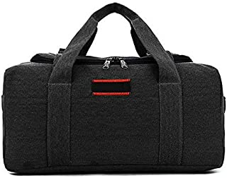 Large Capacity Canvas Leather Outdoor Travel Luggage Handbag Tote Shoulder Bag
