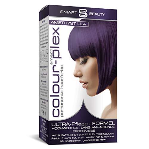 Smart Beauty Amethyst Lila permanente Haarfarbe in Salonqualität | 100% vegane Rezeptur, ohne Tierversuche | Mit Smart Plex Anti-Haarbruch-Technologie für Schutz und Kräftigung des Haares