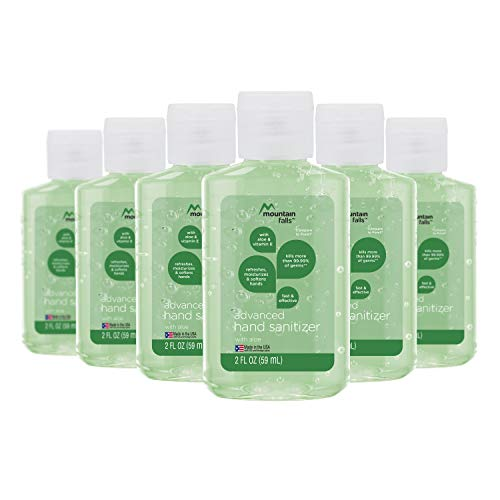 Mountain Falls Advanced Hand Sanitizer with Vitamin E and Aloe, 2 Fluid Ounce (Pack of 6)