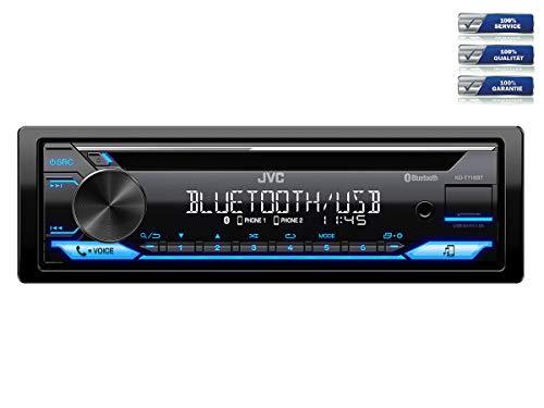 NIQ-Autoradio-Einbauset-geeignet-fuer-Renault-Clio-Megane-Modus-inkl-JVC-KD-T716BT-Lenkrad-Fernbedienung-Adapter-in-Schwarz