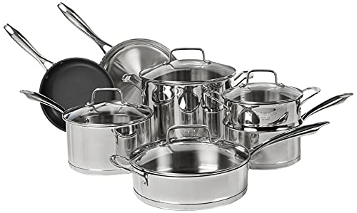 Cuisinart 11-Piece Professional Stainless Cookware Set