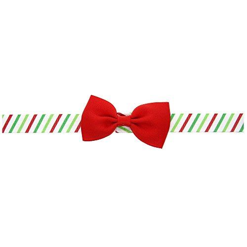 MIRRAY Baby Weihnachtsverzierungs Kopfschmuck Elastisches Sommer Rockabilly Haarband rot