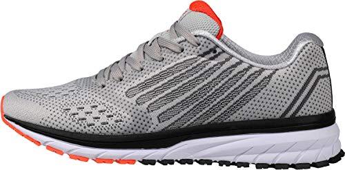 WHITIN Zapatos para Correr Hombre Mujer Zapatillas de Deportes Tenis Deportivas Running Calzado Trekking Sneakers Gimnasio Transpirables Casual Montaña Gris Naranja 44