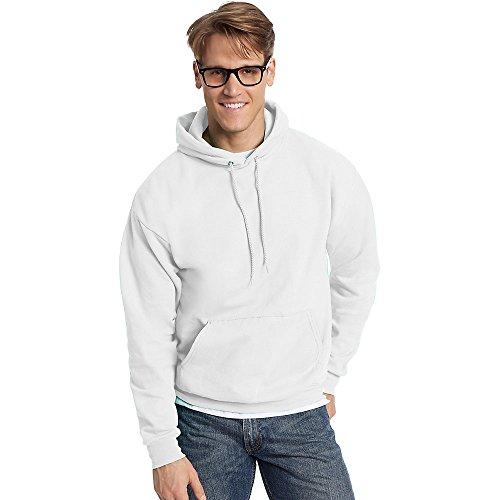 Hanes By ComfortBlend EcoSmart Pullover Hoodie Sweatshirt_White_4XL