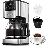 Programmable Coffee Maker, 12 Cups Coffee Pot with...