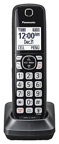 Panasonic KX-TGFA51B Dect 6.0 Digital Additional Cordless Black Handset for TGF5xx Series (Renewed)