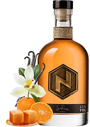 neekaGINRUM | Mandarine + Vanille + Karamell | 0.5 L | Handcrafted in the Black Forest – Germany | 100% GinRum Geschmack