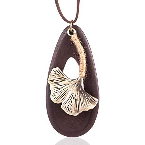Lege Dames sieraden kettingen & hangers lang touw blad hanger ketting vrouwen Accessoires