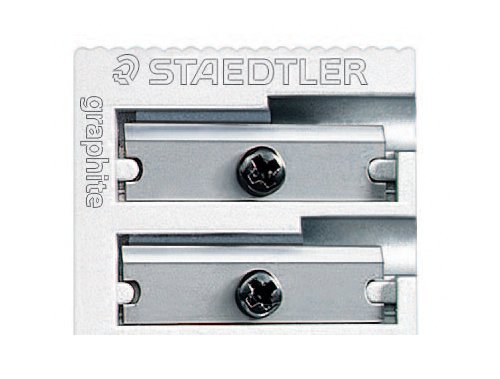 Staedtler Metal Sharpener, Double Hole for Pencils and Colored Pencils, 1-Each (510 20BK)