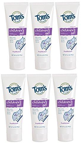 Tom's of Maine Children's Fluoride Anticavity Gel, Kids Toothpaste, Natural Toothpaste,...