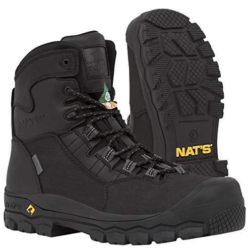 NAT'S S620 100% Waterproof Steel Toe Boots for Men - CSA Approved Work Boots - Ultralight (2.2 lbs),...