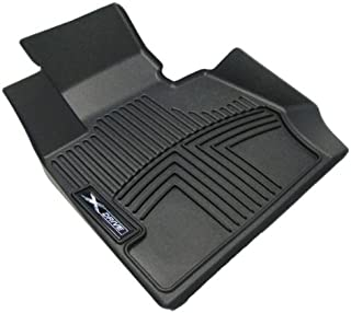 OEM BMW All Weather Rubber Floor Liners / Black-Front, F30 xDrive (AWD) 3-series sedans