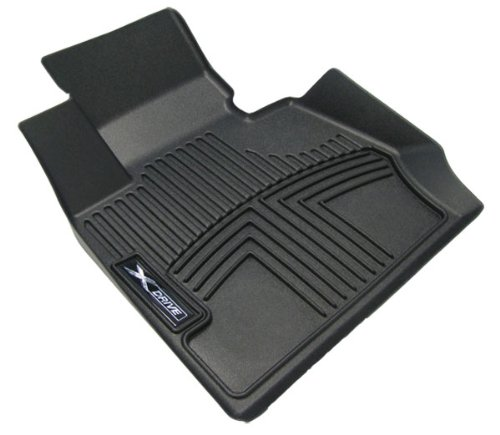 OEM BMW All Weather Rubber Floor Liners / Black-Front, F30/F31/F34 xDrive (AWD) 3-series sedan/wagon/gran turismo