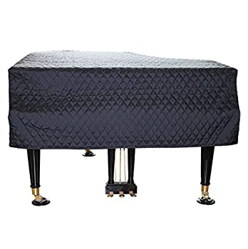 ESYUEL Grand Piano Cover Dust Protective Cover with Quilted Diamond Pattern 160cm/62.9in Black