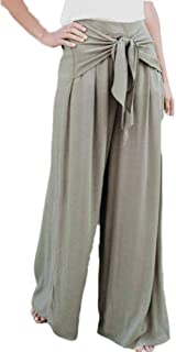 Keephen Frauen-Hose mit weitem Bein und bequemen Hosen