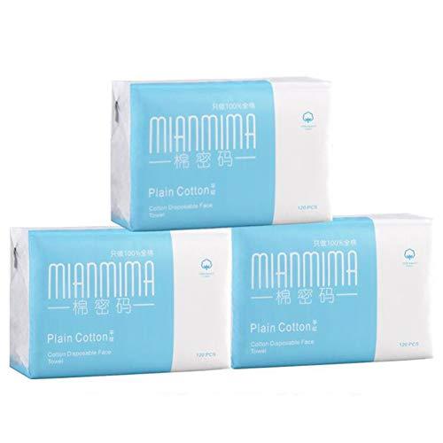 DALL wegwerp gezichtsdoek Dry Wet Dual Use katoenweefsel zachte wattenpads gevoelige huidreiniging goede flexibiliteit 3-pack 300 Count