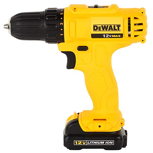 Dewalt DCD700C2-IN 12V, 10mm XR Li ion Cordless Impact Drill Driver with 2x1.3 Ah Batteries Included
