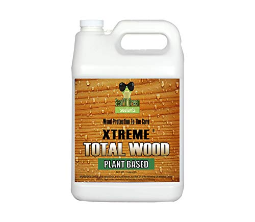 Seal It Green Xtreme Total Wood-Plant Based, Eco Friendly Wood Sealer That Preserves, Protects & Waterproofs All Wood Types. Lifetime Wood Core Protection