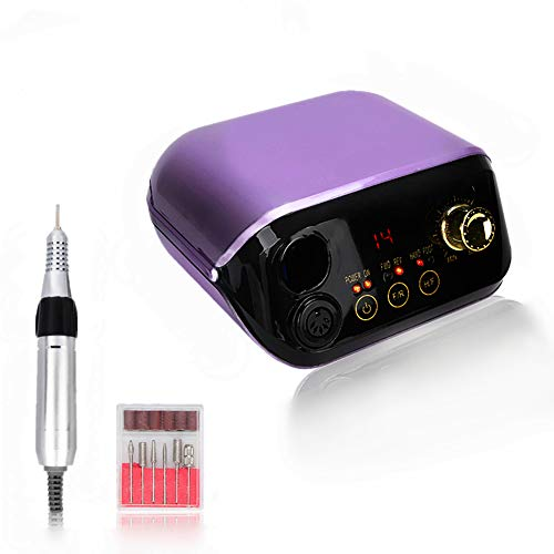 Taladro eléctrico de uñas, 35 W 35000 RPM Kit de taladro de lima de uñas...