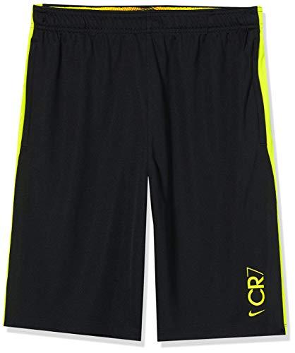 Nike Jungen CR7 B NK Dry Short KZ Sport, Black/(Lemon Venom), M