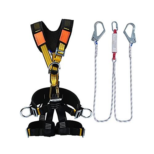 GXN Protección contra caídas Cinturones de Seguridad Árboles al Aire Libre Arnés Cuerda de Seguridad Conjunto Equipo de Escalada de Seguridad para Escalar Camping (Color : A)