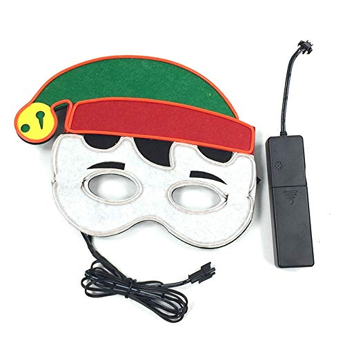 Sailormjy Halloween-led-masker, koud licht, Kerstmis, verjaardag, party, festival, party, cosplay, led-verlichting, masker, carnavalmasker, Halloween, accessoires, batterij aangedreven (niet inbegrepen) voice-activated