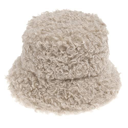 Qiman Sombrero de forro polar suave para mujeres y hombres, de color sólido, estilo hip-hop.