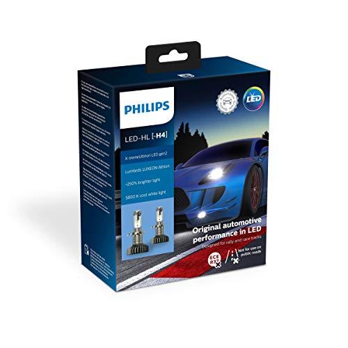 Philips automotive lighting 11342XUWX2 X-tremeUltinon gen2 LED Faros Delanteros (H4), 5.800K, Set de 2
