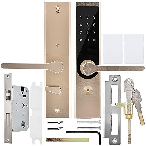 Cerradura de puerta inteligente Cerradura de puerta automática Conectividad Bluetooth 4.0 Adecuado para la mayoría de las puertas de madera/hierro Bajo consumo y duradero Dorado