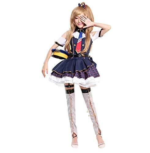 Anime Love Live Cosplay Minami Kotori Cosplay, Vestido Azul Despertar Uniforme de policía, Gorra de Vestir, Cubierta de Zapatos