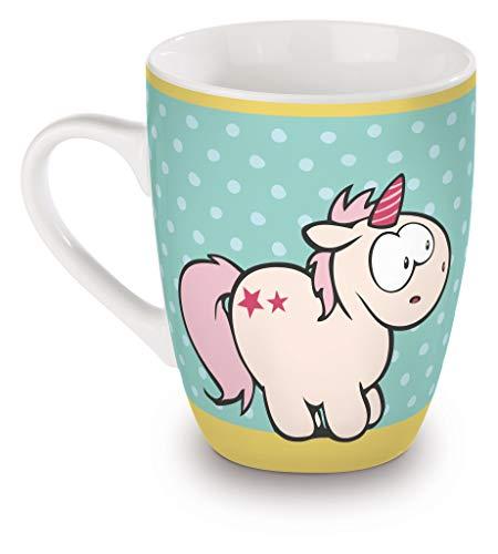 Nici Theodor and Friends Taza de porcelana unicornio ballena arcoíris Bubble Hello...
