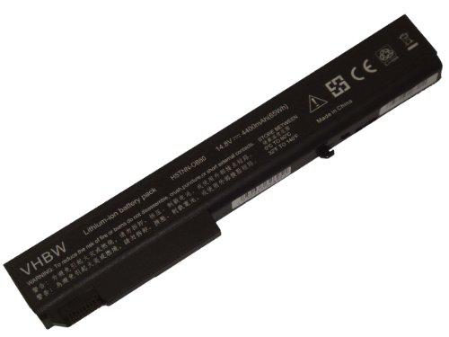 vhbw Li-ION Batterie 4400mAh (14.8V) pour Ordinateur PC HP EliteBook 8530p, 8530w, 8540p, 8540w, 8730p comme 458274-421, 501114-001, HSTNN-LB60.