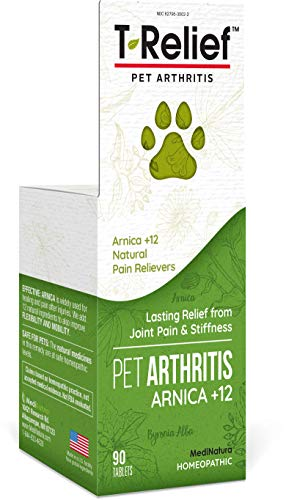 MediNatura TRelief Pet Arthritis Pain Relief Arnica 12 PlantBased Medicines Help Reduce Hip amp Joint Pain Soreness amp Stiffness Naturally  Vet Approved FastActing LongLasting  90 Tablets