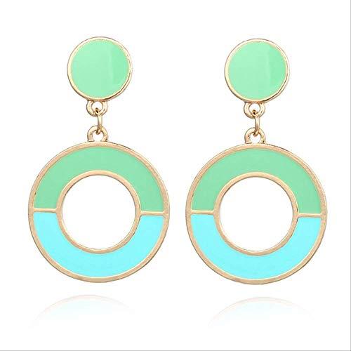 Oor manchetten voor vrouwen grote ronde oorbellen Dames Multicolor oorbellen Kleur Boheemse oorbellen hanger oorbellenez261lan
