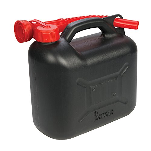 Silverline 199991 Bidon à Carburant Plastique 5 L, Noir