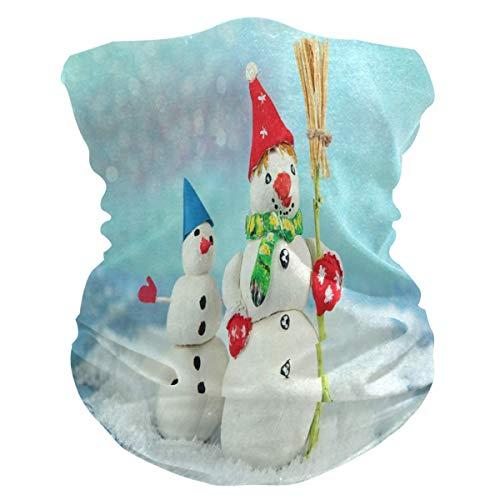Headband Cute Christmas Snowman Face UV Sun Protection Mask Neck Gaiter Magic Scarf Bandana Headwear Balaclava for Women Men