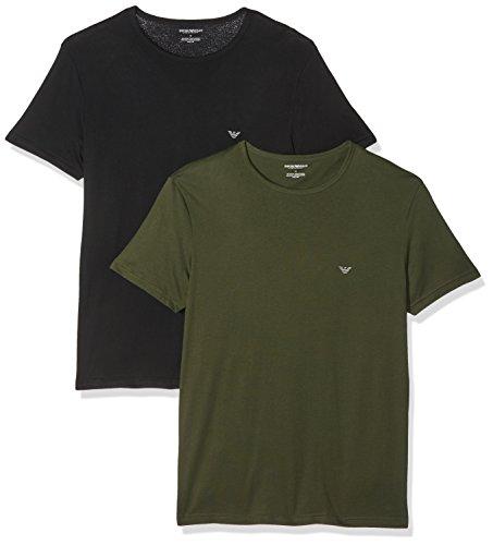 Emporio Armani Underwear Herren 1112677A722 Schlafanzugoberteil, Blau (Nero/Militare 50720), Large
