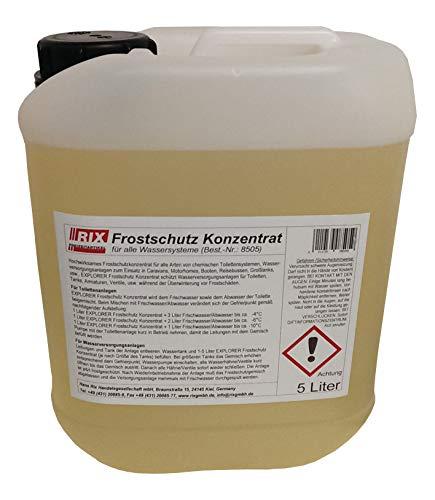 EXPLORER / RIX Frostschutz Konzentrat 5 Liter Frost Winter chemischen Toilettensystemen Wasserleitung Camping Schutz