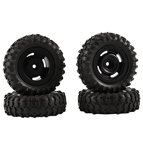 WYDM 4PCS 55X20mm MetalWheel s Juego de neumáticos para SCX24 90081 1/24 RC Car Upgrade Parts, 3