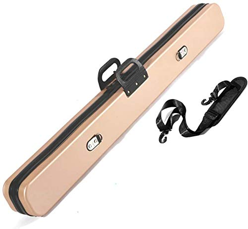 WEHOLY 3/4 Joint Snooker Cue Case, 122cm for Centre Joint Pool Cues Bag Billard Accessories-Holds 4 Pool Cue Pool Cue