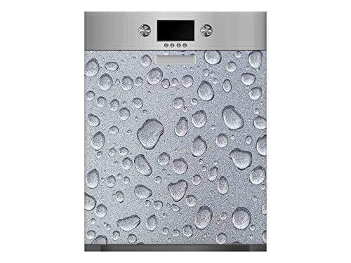 Vinilo para Lavavajillas Textura Gris Refrescante | Varias Medidas 75x85cm | Adhesivo Resistente y de Fácil Aplicación | Pegatina Adhesiva Decorativa de Diseño Profesional