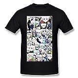 JuliaJOwens Hunter X Hunter - Camiseta de manga corta para hombre, color negro