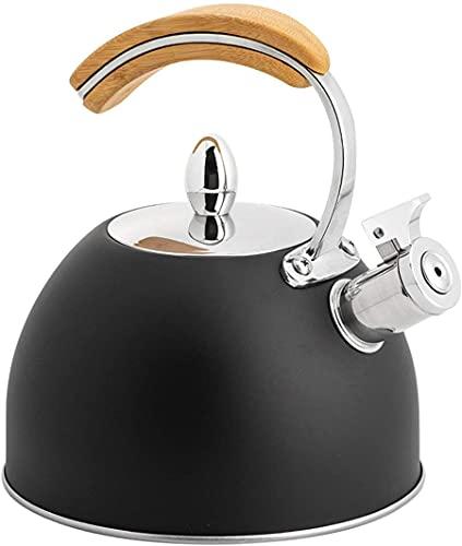 Mango Ergonómico De Acero Inoxidable De La Tetera Silbante para Todo Tipo De Incendios Prácticos Y Cocina Práctica De La Olla 3L