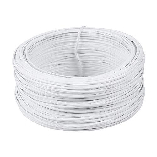 Hemobllo 55 Metri rivestiti in filo di ferro Legami leganti in cavo per giardino Legami bianchi