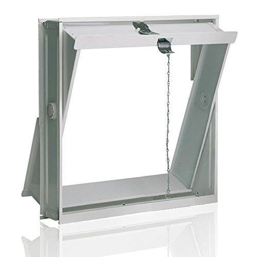 Ventana oscilobatiente: para el montaje en la pared de bloques de vidrio para 4 bloques de vidrio 19x19x8 cm