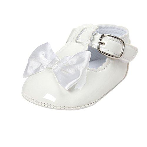 Primeros Zapatos para Caminar,Auxma Zapatos de bebé, Zapatos Antideslizantes del Bowknot de...