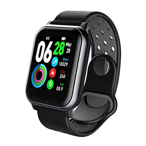 Lsooyys Reloj inteligente, reloj de fitness de 1,3 pulgadas, monitor de actividad deportiva con monitor de sueño de frecuencia cardíaca, podómetro, calorías y salud para Android iOS