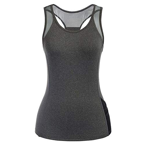 Jack Smith Camiseta Deportiva para Mujer sin Mangas Chaleco Ligero de Malla Camiseta de Tirantes para Running Fitness Yoga