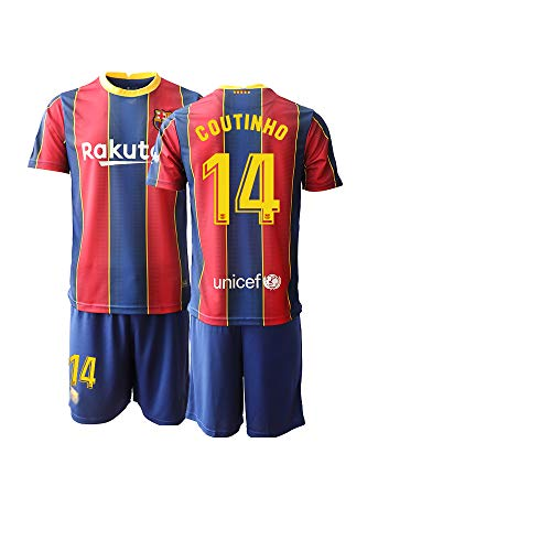 JEEG 20/21 Herren Coutinho 14# Barce Fußball Trikot und Shorts Fußball traininganzug (S)